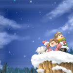 雪夜の冒険。