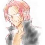 赤髪のシャンクスのイメージイラストです。